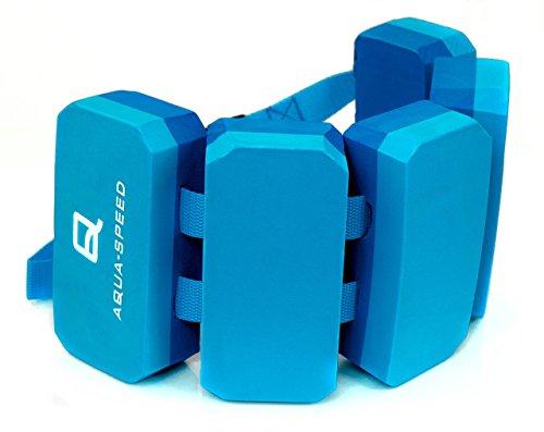 Aqua Speed KINDER SCHWIMMGÜRTEL | 5-teilig | 3-6 Jahre | 18-30 kg | Größenverstellbar | Schwimmhilfe | Schwimmgurt | Wassergürtel | Stützend | Treibend, Farbe:Blau - Navy (Aqua-skala)
