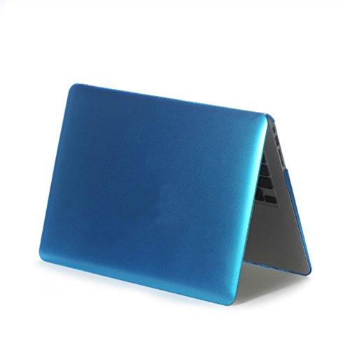 YiJee Cover Laptop Colore del Metallo Custodia Shell Rigida per Macbook Air 11.6-15.4 Pollici 15.4re Inch Blu