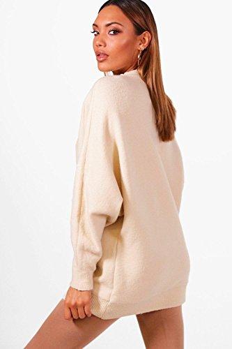 bronzer Femmes pull en maille douce à manches chauve-souris surdimensionné Sian bronzer