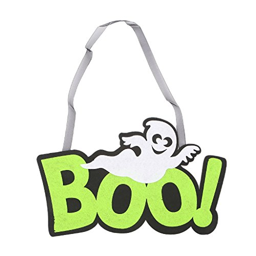 Fogun 1pc Halloween Boo Ghost Hängende Zeichen für Halloween, Hause, Schule, Büro, Party Indoor Und Outdoor Wal Dekoration (Boo Halloween Ghost)