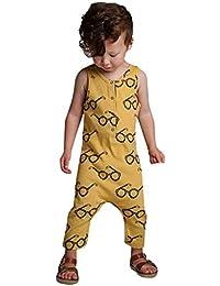 Divertido Pijama,K-Youth Mono para Bebés Sin Manga Pelele Bebe Niño Verano Ropa Bebe Recien Nacido Niño Mameluco Bebe Niña Bodies Niños Body Bebé Unisex Ropa de Dormir Infantil