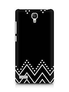 AMEZ designer printed 3d premium high quality back case cover for Xiaomi Redmi Note 4G (black and white design)