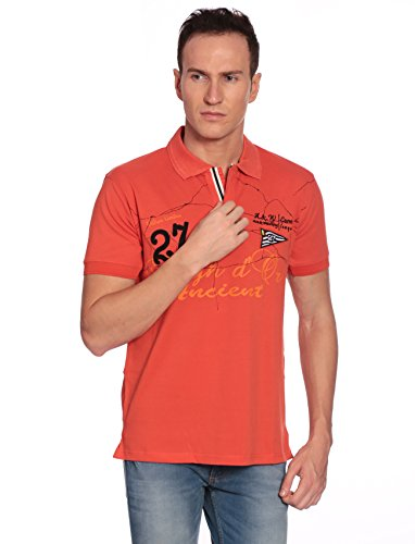 27Ashwood Tshirts For Men Branded,mens Tshirt Half Sleeve,branded T Shirts For Men,men's Orange Collar Polo T-shirt...