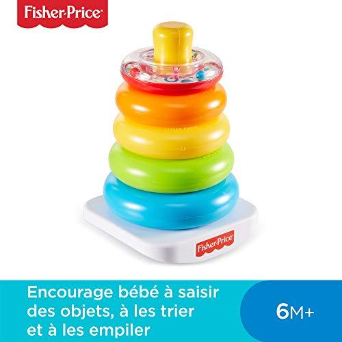 Fisher-Price Pyramide Arc-en-Ciel Jouet Bébé, Favorise la Coordination des Gestes et...