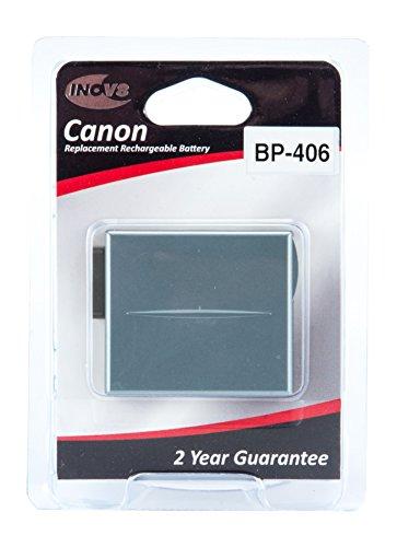 INOV8r-c-b-Batteria ricaricabile agli ioni di litio per Canon bp-406(confezione da 2)