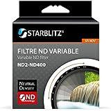 Starblitz SFINDV67 Filtre à Densité Neutre Variable gradué ND2 à ND400 pour Objectif 67 mm Noir