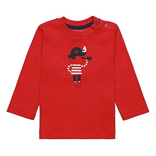 Esprit Kids Baby-Jungen Langarmshirt T-Shirt, Rot (Red 375), 74