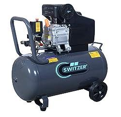 SwitZer Air Compressor 50L Litre LTR Tank 2.5HP 8 BAR Pressure 230V 50HZ 9.6CFM with Wheel Handle Grey AC001 New