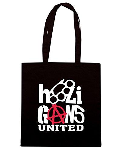 T-Shirtshock - Borsa Shopping TUM0118 Hooligans United Nero