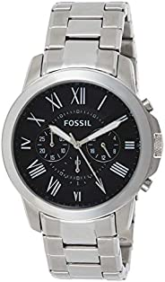 Fossil Men's 44mm Grant Roman Stainless Steel W