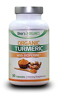 *SPECIAL DEAL PRICE THIS JUNE* Organic Turmeric With Bioperine (For HIGHEST Absorption) 700mg - 90 Capsules - UK Made - Great Results from Oliver's Organics