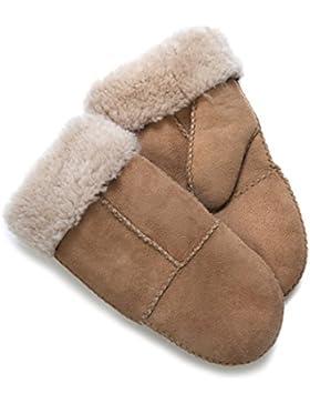 Manoplas para mujer, piel de oveja, en caja de regalo