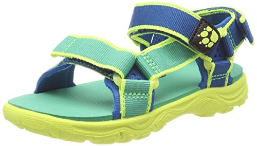 Jack Wolfskin Jungen Seven Seas 2 Sandal B Sport, Mehrfarbig (Sea Breeze), 36 EU (Sport-sandale)