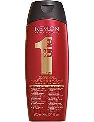 REVLON PROFESSIONAL Uniqone Shampooing/Après-Shampooing 2 en 1 pour Tous Types Cheveux 10 Bienfaits Rouge Classique, 300ml