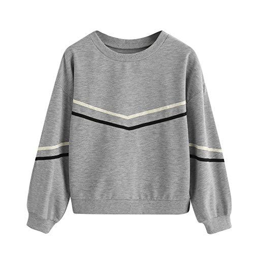 TWBB Damen Pullover,Herbst Winter Unregelmäßig O-Ausschnitt Mantel Slim-Fit Sweatshirt Outwear