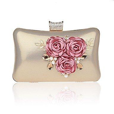 Frauen elegante Hochwertige Luxus Blume Abend Tasche Fuchsia
