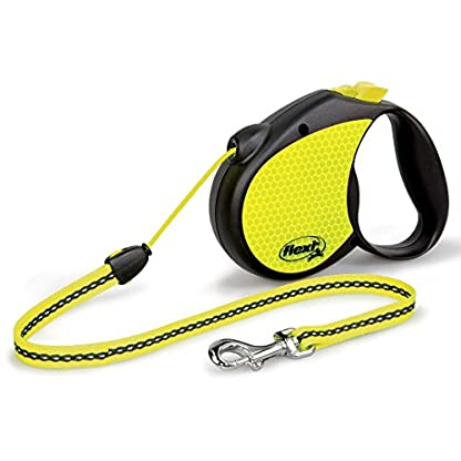 flexi Neon Retractable Lead, Yellow/Black, Small, 5 m/12 Kg 1