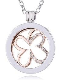 385d7b5d070a Morella Mujeres Collar 70 cm Acero Inoxidable con Amuleto y Colgante Coin  33 mm en Bolsa