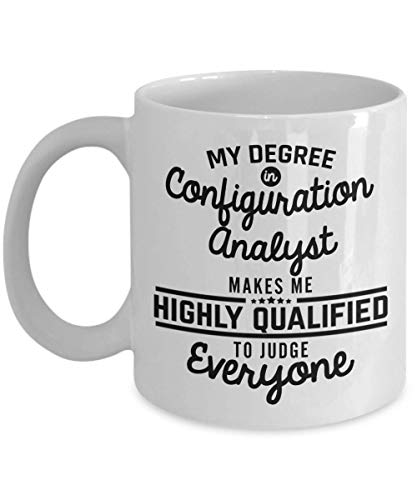 SHALLY Configuration Analyst Coffee Mug - Best Analyst Coffee Mug Researchers Data Analysts 11 Oz Novelty Tea Cup Ideas - Men Woman Boyfriend Girlfriend - Tea Iced Maker Beste