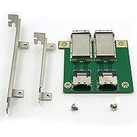 CableDeconn Dual Mini SAS SFF-8088 a SAS36P SFF-8087 en soporte PCI Adaptador