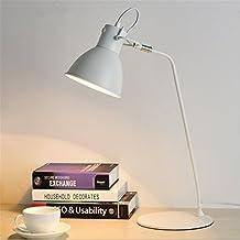 HM Modernes Weisses Schreibtisch Lampen Licht Lesestudium Klassisches Kreatives Justierbares Augen