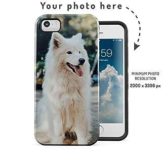 Personalisierte Handyhülle mit Ihrem eigenen Foto, Personalised Custom Make Your own designen Hülle 2-Teilig, Doppellagig: PC + TPU Robuste Handyhülle Phone Case Cover für iPhone 5 / 5s / SE