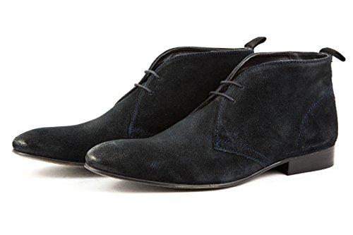 Base London Herren Elegante Schnürer Stiefeletten Gr. 42 Blau