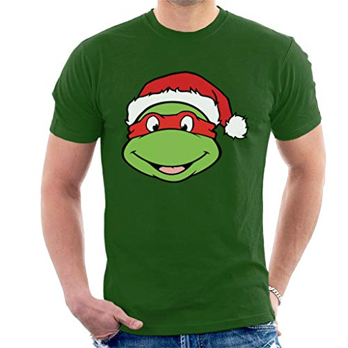 Teenage Mutant Ninja Turtles Raphael Christmas Hat Men's T-Shirt