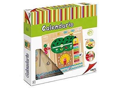 Cayro-8107 Calendario Aprendizaje Madera multidioma, (8107) por CAYRO
