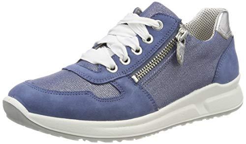 Superfit Mädchen Merida Sneaker, Blau 80, 34 (Merida Schuhe)