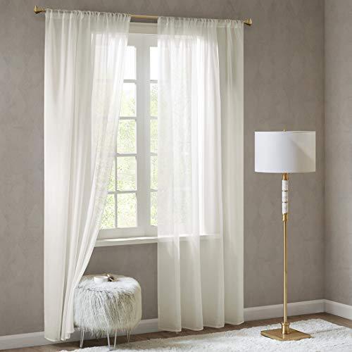 Scm tenda sciarpe in voile con asta doris, tessuto, bianco sporco, 2x h/b: 245/140 cm