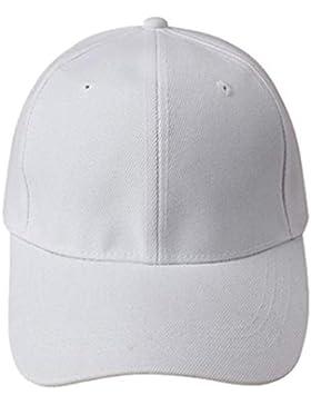 Sombrero,Xinantime Gorra de béisbol en blanco de color sólido ajustable del sombrero (Blanco)