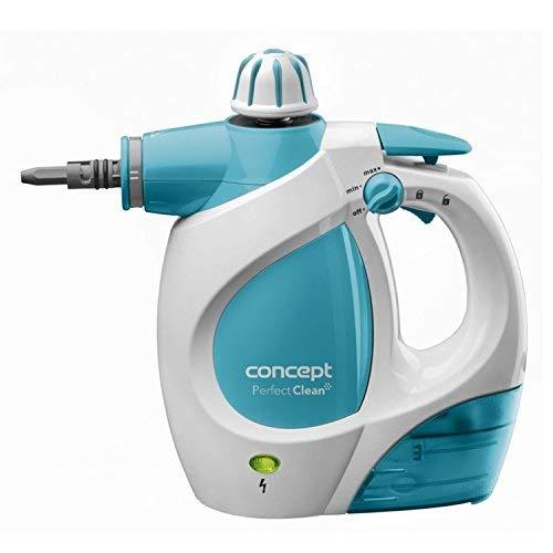 CONCEPT Hausgeräte CP1010 Handdampfreiniger Perfect clean, 1200 W, 3 bar, 400 ml, umfangreiches Zubehör, Plastik, Weiß