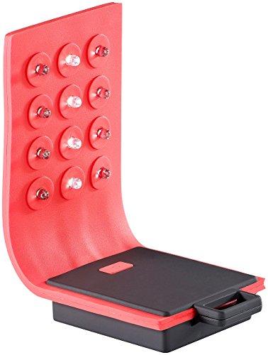 Lunartec Werkstattleuchten: Flexible Arbeitsleuchte aus Silikon, 12 LEDs, Magnet, 72 lm (Biegsame Lampen mit Magnethalter) (Batterie Betrieben Hammer)