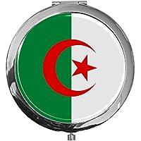 """metALUm - Extragroße Pillendose in runder Form""""Flagge Algerien"""" preisvergleich bei billige-tabletten.eu"""