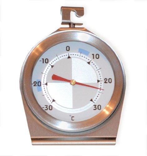 Kühlschrankthermometer -30 bis 30°C spülmaschinenfest · Gehäuse Edelstahl - Tiefkühlschrank-Thermometer