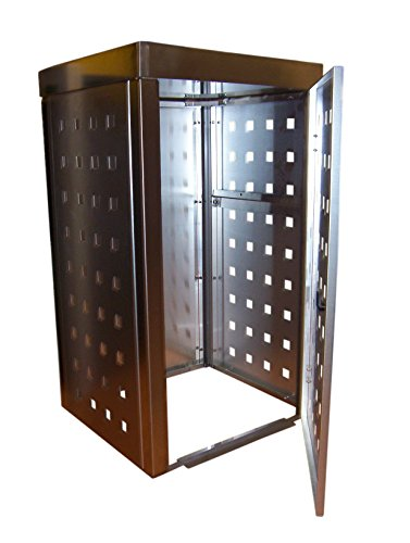 Mülltonnenbox Edelstahl, Modell Eleganza 120 Liter als Zweierbox mit Pflanzwanne - 2
