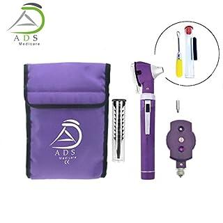 ADS Medi Care Otoscope Set Diagnostic Set (Purple)