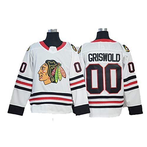 Yajun Griswold #00 Chicago Blackhawks Eishockey Trikots Jersey NHL Herren Sweatshirts Damen T-Shirt Bekleidung,White,Men-2XL