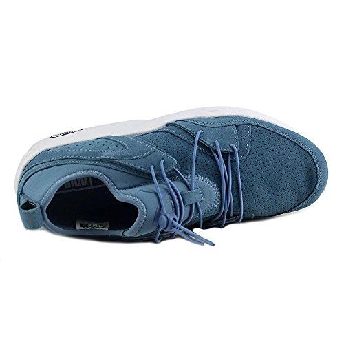 Puma Blaze Of Glory Soft Daim Chaussure de Course Blue Heaven-white