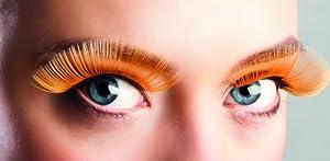 Boland BOL01611 - Pestañas largas autoadhesivas, color naranja