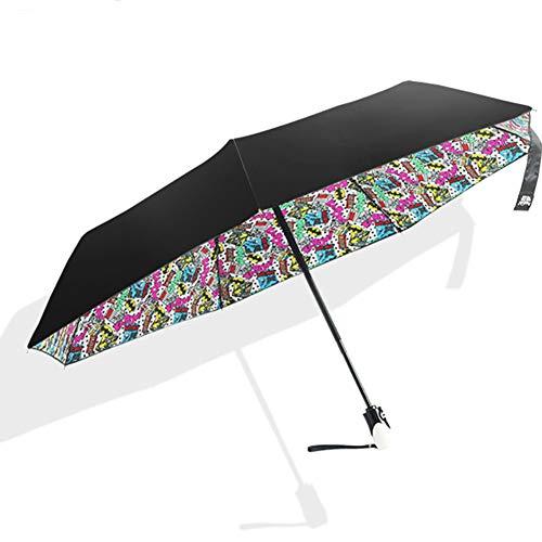 QJIN Automatischer Sonnenschirm Großhandel Automatischer Augenregen-Tagesregenschirm Ultra Light 30 Taschenschirm Automatik Einfarbig-Black - 30 Großhandel Handtaschen
