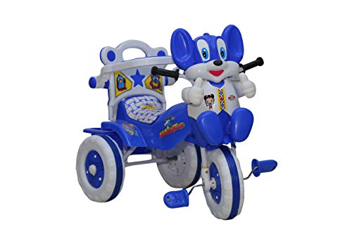 Amardeep and Co Baby Tricycle Blue 86*64*33 cms 1-3 yrs  - 1523MZ_Blue