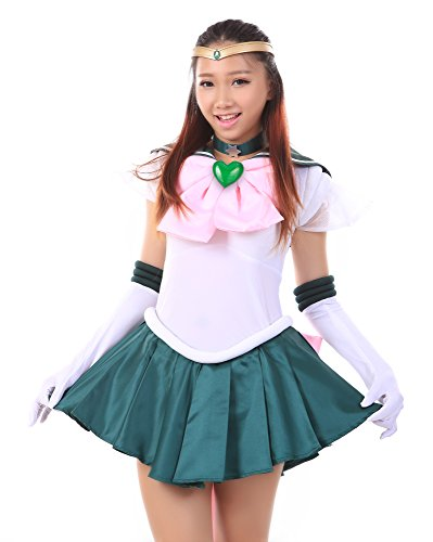 De-Cos Sailor Moon Super S Sailor Jupiter Kino Makoto Fighting Uniform Set (Super Sailor Jupiter Kostüm)
