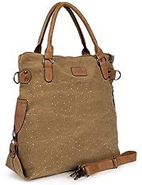 70c1ccc1ab78f Antonio Damen Handtasche Schultertasche Umhängetasche Tasche Canvas Shopper  Groß 48 x 45 ...