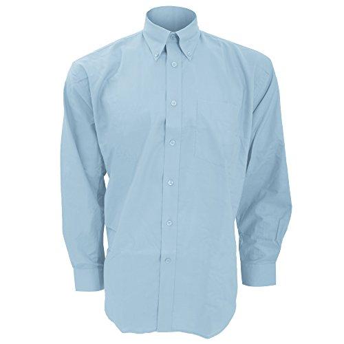 Kustom Kit Workwear Oxford Herren Hemd, Langarm Schwarz