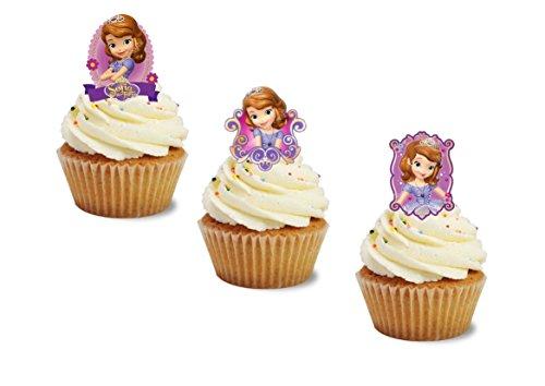24Essbar Sofia die Erste Wafer Karte Ständer UPS ungeschliffen Cupcake Topper