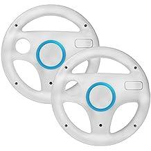 booEy 2x Lenkrad Wheel für Nintendo WII und Wii U Mario Kart weiß