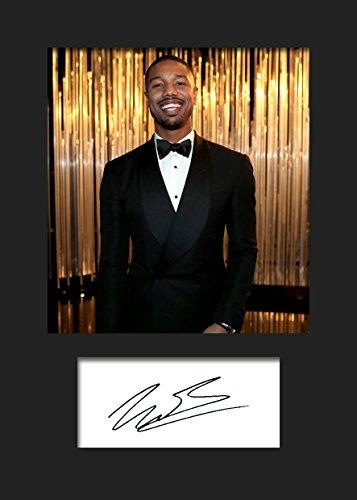 Michael B Jordan #2 | Signierter Fotodruck | A5 Größe passend für 6x8 Zoll Rahmen | Maschinenschnitt | Fotoanzeige | Geschenk Sammlerstück