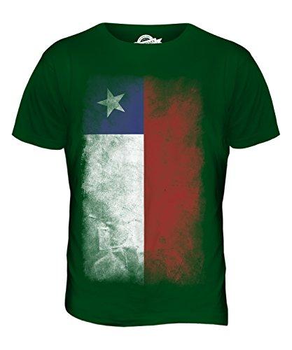CandyMix Chile Verblichen Flagge Herren T Shirt Flaschengrün